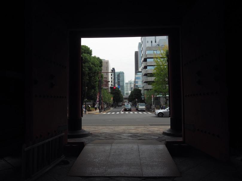 Door in Tokyo, by a shrine