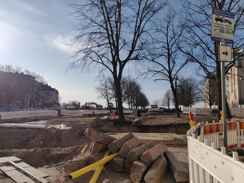 Photo of construction going on in Helsinki