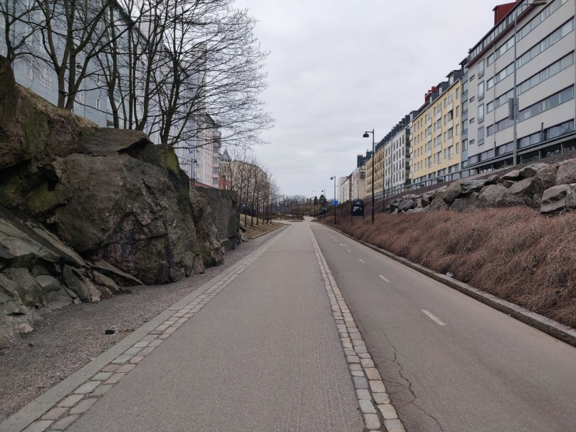 Bicycle path in Helsinki